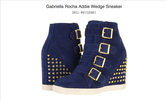6pm's Gabriella Rocha's Addie Wedge Sneaker