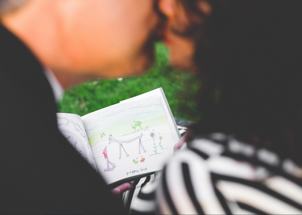 Picnic Book Kiss