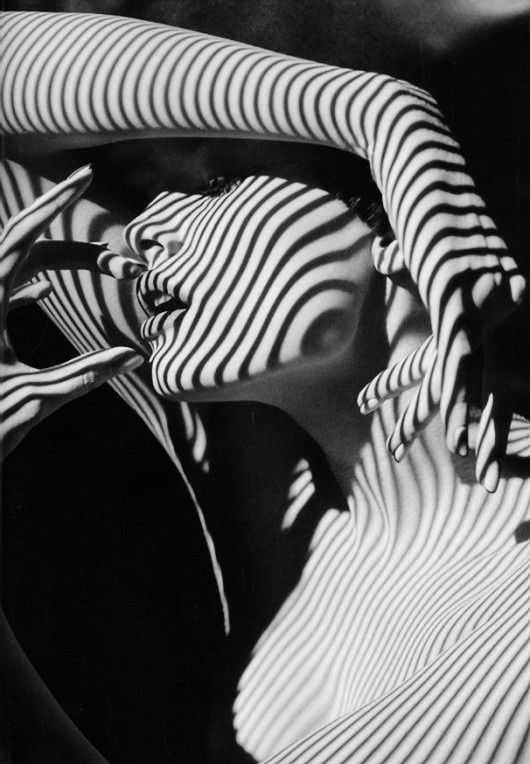 black-and-white-lines-face