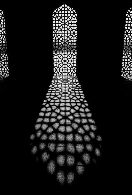 black-and-white-shadows-building
